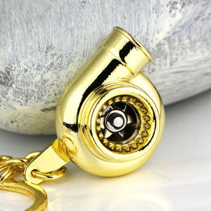 Golden Auto Parts Turbocharger Spinning Keychain