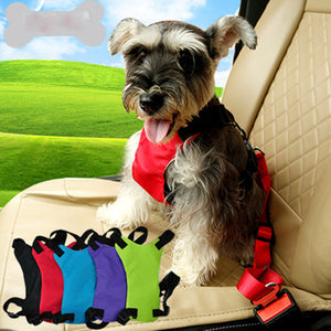 Pet Seat Belt Harness with Adjustable Straps for Dogs and Cats