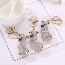 Fashionable Dog Rhinestone Keychain