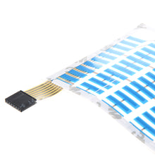 Music-Activated Blue LED Equalizer Sticker