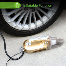 4-in-1 Vacuum Cleaner / Tire Inflator / Tire Pressure Gauge / LED Flashlight
