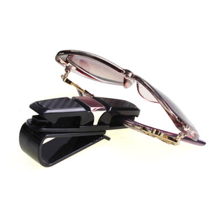 Sun-Visor Clip Storage for Glasses, Credit-card, Ticket, Receipts, etc
