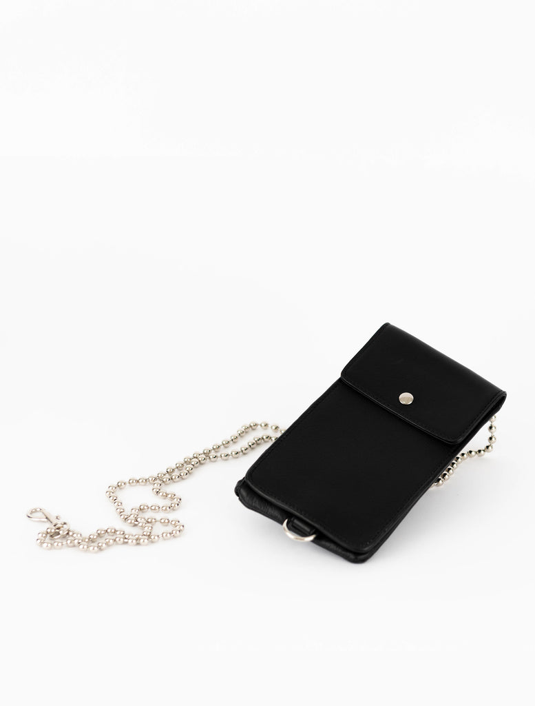No. 4 Black Phone Sling with Chain