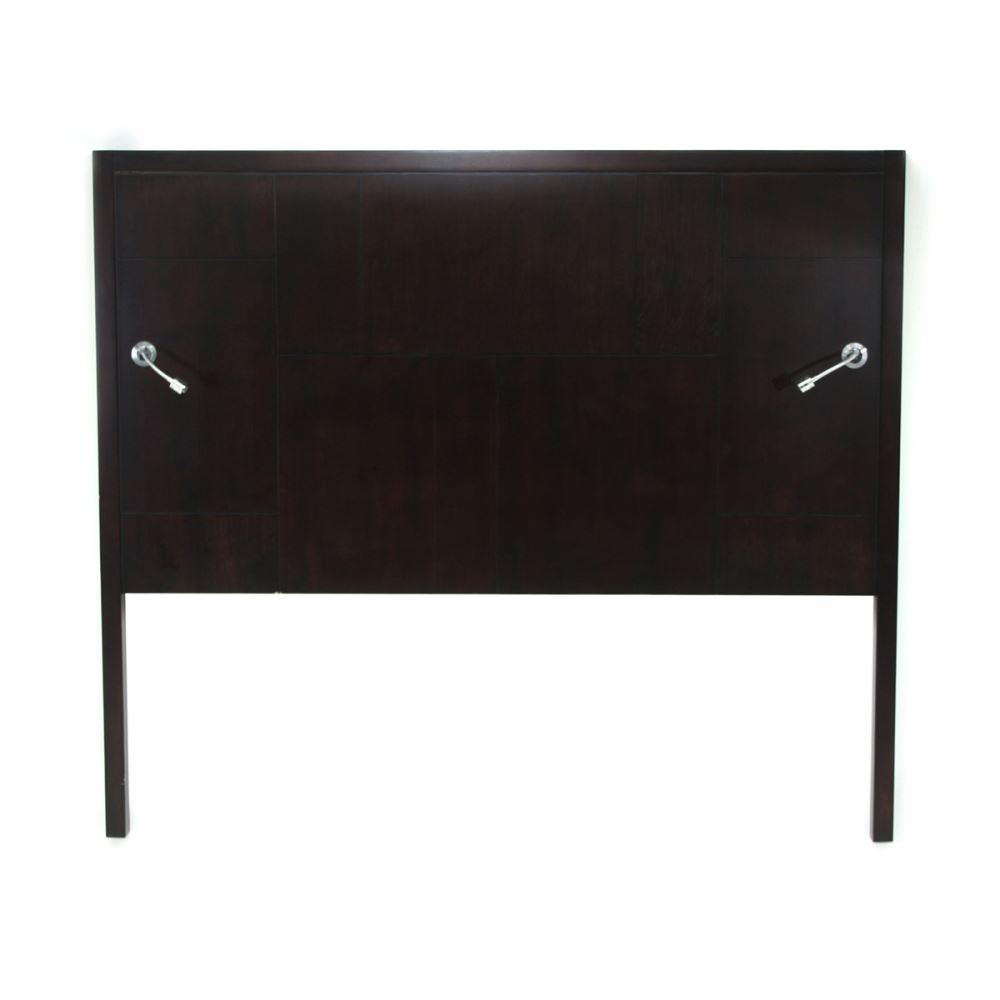 Hotelure Headboard with Lights, Black