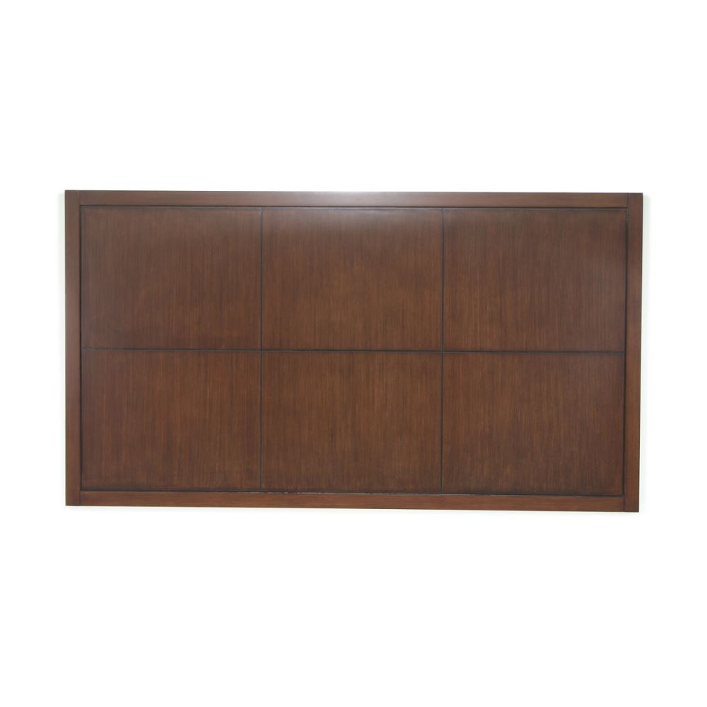 Hotelure Headboard, Square Design, Chocolate Brown