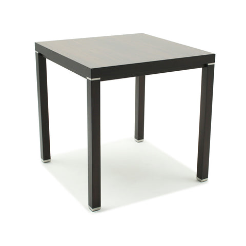 Hotelure Side Table with Metal Accents, Black
