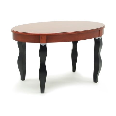 Hotelure Table, Black Legs with Cherry Brown Top