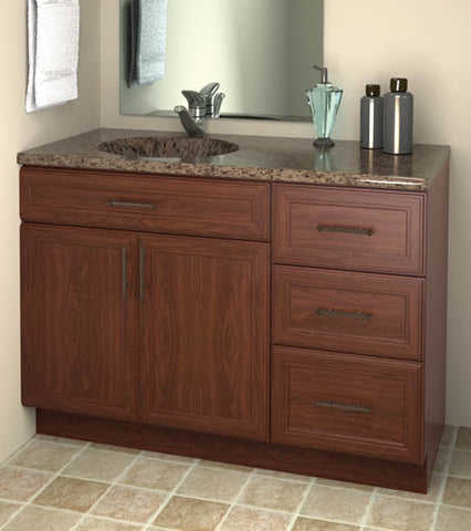 Hotelure Vanity, Brown with Brown Marble