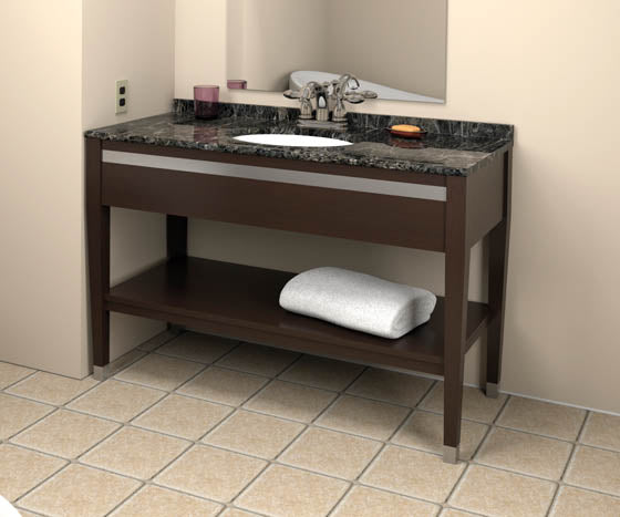 Hotelure Vanity, Cocoa with Black Marble