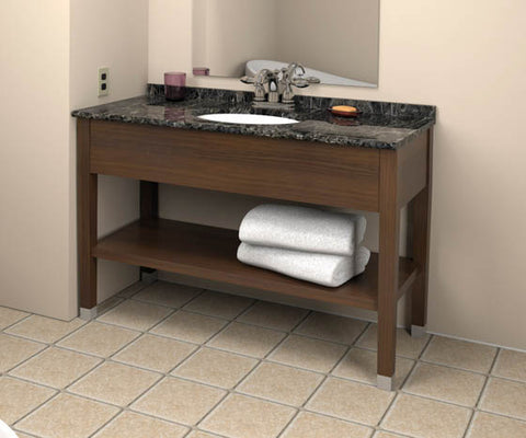 Hotelure Vanity, Chocolate Brown with Black Marble