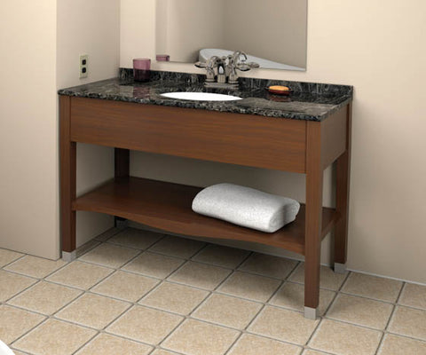 Hotelure Vanity, Brown with Black Marble