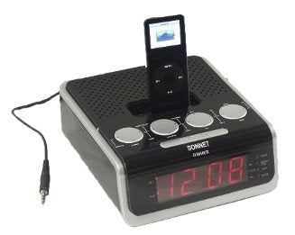 iPhone 4/iPod Docking Station Clock Radio with .9