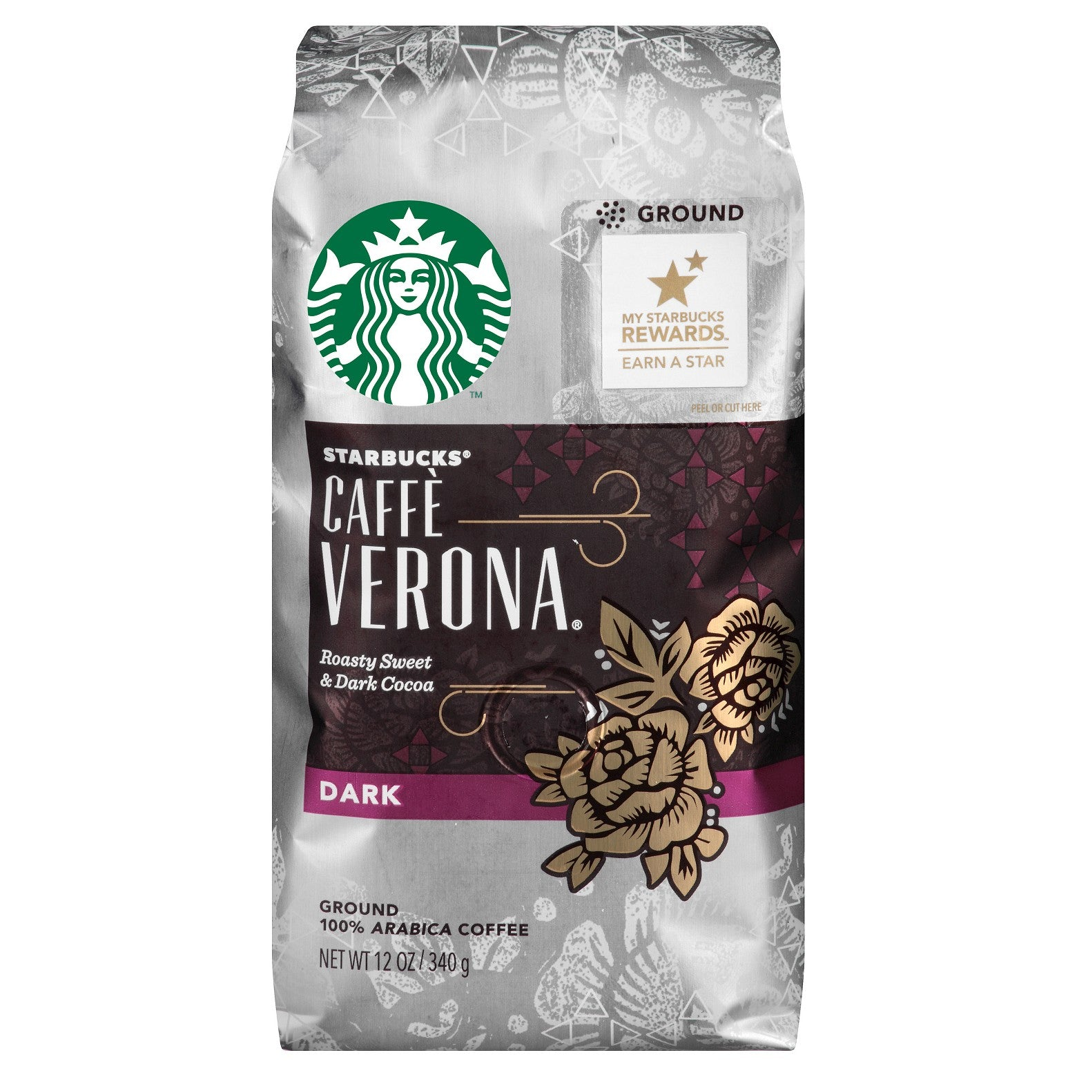 Starbucks® Caffè Verona Dark Roast Ground Coffee - 28cs