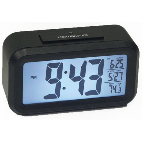 Automatic Light on LCD Large Number Alarm Clock