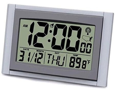 Atomic LCD Wall Clock with 2