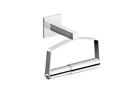 INFINITE SQUARED SINGLE POST TOILET PAPER HOLDER WITH SPINDLE