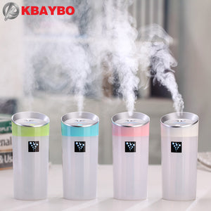 300ML Ultrasonic Humidifier USB Car Humidifier Mini Aroma Essential Oil Diffuser Aromatherapy Mist Maker Home Office