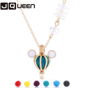 1 Pcs Aroma Diffuser Necklace Perfume Essential Oil Aromatherapy Hollow Locket Necklace For Gift