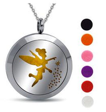 High Quality Stainless Steel Locket Necklace Dream Catcher Angel Pendant Aromatherapy Essential Oil Diffuser Necklace