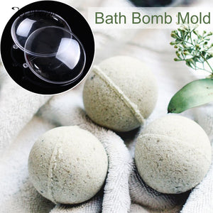 5pcs 7cm Transparent Plastic Bath Bomb Mold Acrylic Ball Holiday Wedding Decor