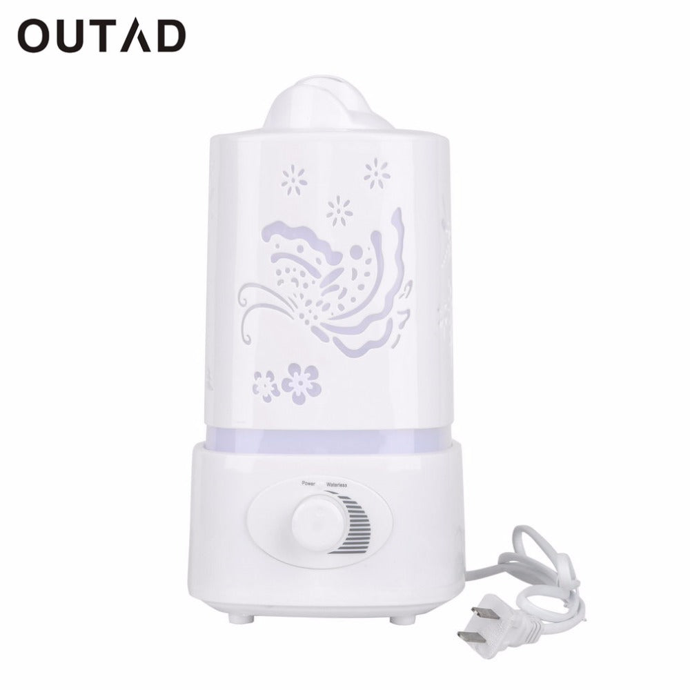 Delicate Carve Patterns Knob Type Mist Adjust LED Night Light 1.5L Ultrasonic Home Aroma Humidifier Air Diffuser Purifier Lonize