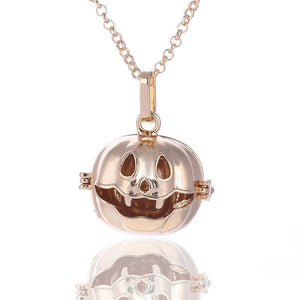 Halloween Pumpkin Perfume Essential Oil Diffuser Long Sweater Chain Necklace