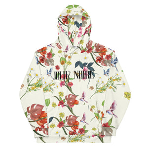 Noire Floral Hoodie- White