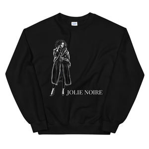 Black and White Sweatshirt- Black