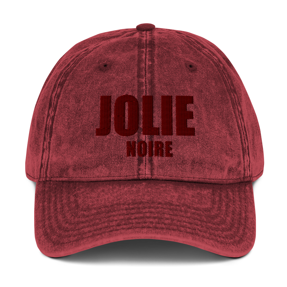 Jolie Noire Vintage Dad Hat- Red (Holiday Edition)