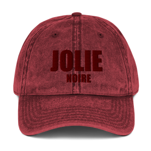 Jolie Noire Vintage Dad Hat- Red