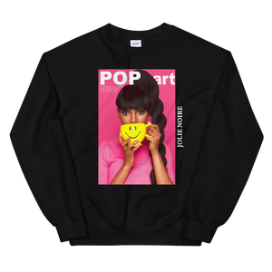 Pop Art and Ponytails Photograph Sweatshirt by Tailiah Breon- Black