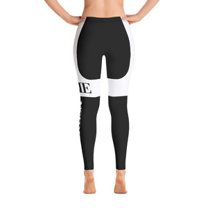 JOLIE NOIRE Leggings Black/White (Plus)
