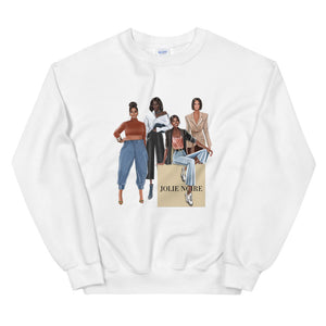 Girlfriends Sweatshirt- White