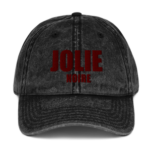 Jolie Noire Vintage Dad Hat- Black (Holiday Edition)