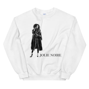 Black and White Sweatshirt- White