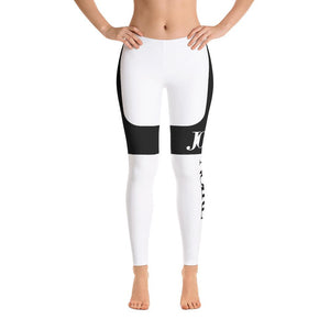 JOLIE NOIRE Leggings White/Black (Plus)