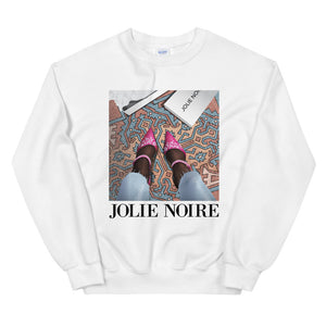 In Her Shoes Sweatshirt- White