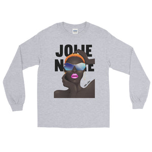 Grace No Jones Long Sleeve Tee- Grey