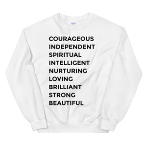 Statement Sweatshirt- White 2