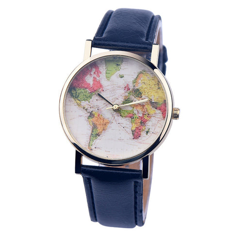 Map Of The World Space Blue Watch Dapperway