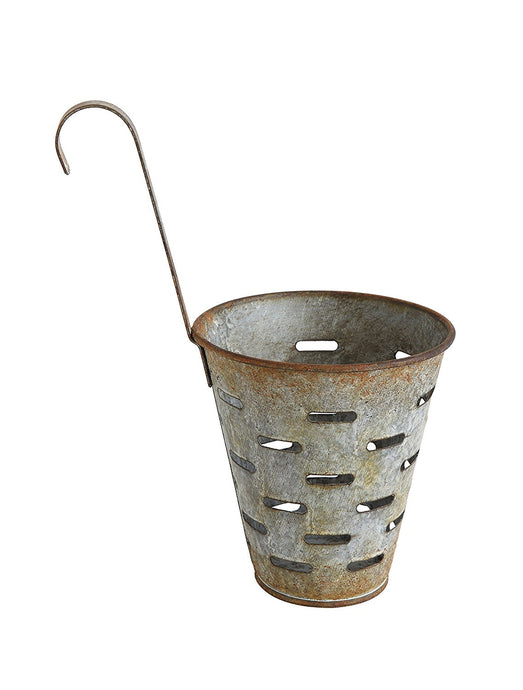 Metal Olive Bucket with Hook