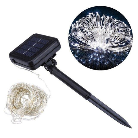 Image of 1 Set 200 LED Outdoor Solar Powered String Light Garden Christmas Party Fairy Lamp 20m Warm White/White/Blue/RGB