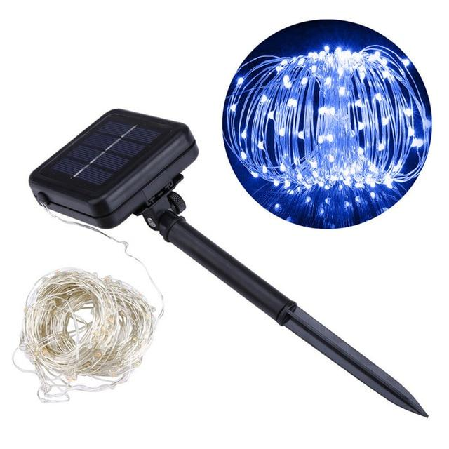 1 Set 200 LED Outdoor Solar Powered String Light Garden Christmas Party Fairy Lamp 20m Warm White/White/Blue/RGB