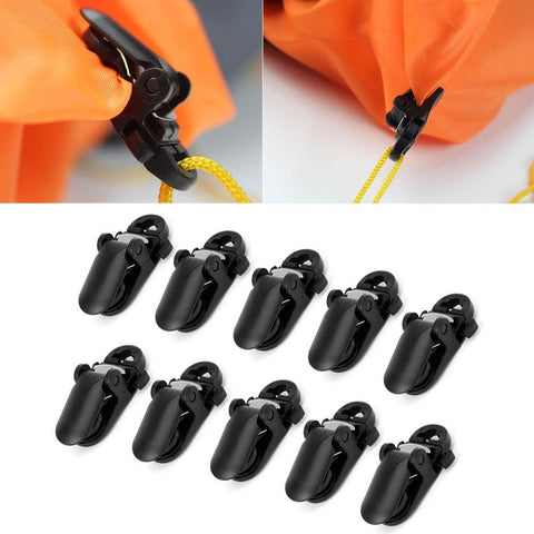 Image of 10Pcs Tent Awning Canopy Clamp Tarp Clip Snap Canvas Anchor Gripper Caravan Jaw Grip Trap Tighten Tool Outdoor Camp Hike Kit