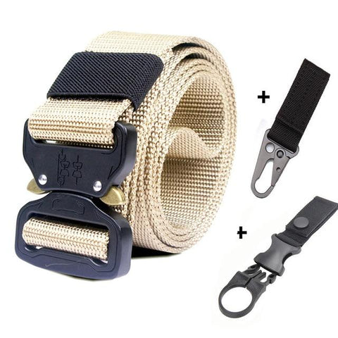 Image of 125-145CM Tactical Belt Military Nylon Belt Men Army Style Belt Automatic Metal Buckle Cinturon Quality SWAT Waist Strap Hunting