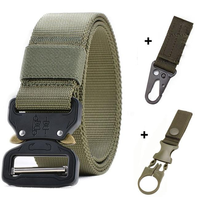125-145CM Tactical Belt Military Nylon Belt Men Army Style Belt Automatic Metal Buckle Cinturon Quality SWAT Waist Strap Hunting