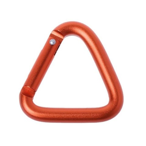 1pc/3pcs/5pcs Triangle Carabiner Outdoor Camping Hiking Keychain Snap Clip Hook Kettle Buckle Carabiner Accessories