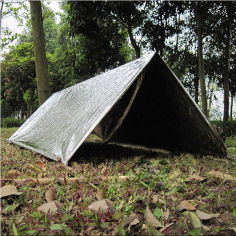 Image of 1pc Folding Outdoor Military Emergency Survival Foil Thermal Rescue Blanket Shelter Insulation Curtain Life-saving Blanket