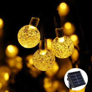 20 LEDS 5M Crystal Ball Solar Lamp Power LED String Fairy Lights Solar Garlands Garden Christmas Decor For Outdoor