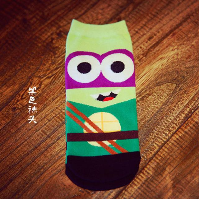 36-43 Summer Men Harajuku Socks Hip Hop Ninja Batman Superman SpiderMan Captain America Avengers Short Novelty Sokken D001